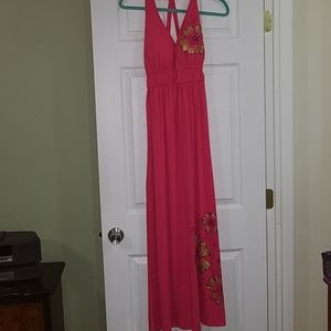 Long maxi dress with flowers